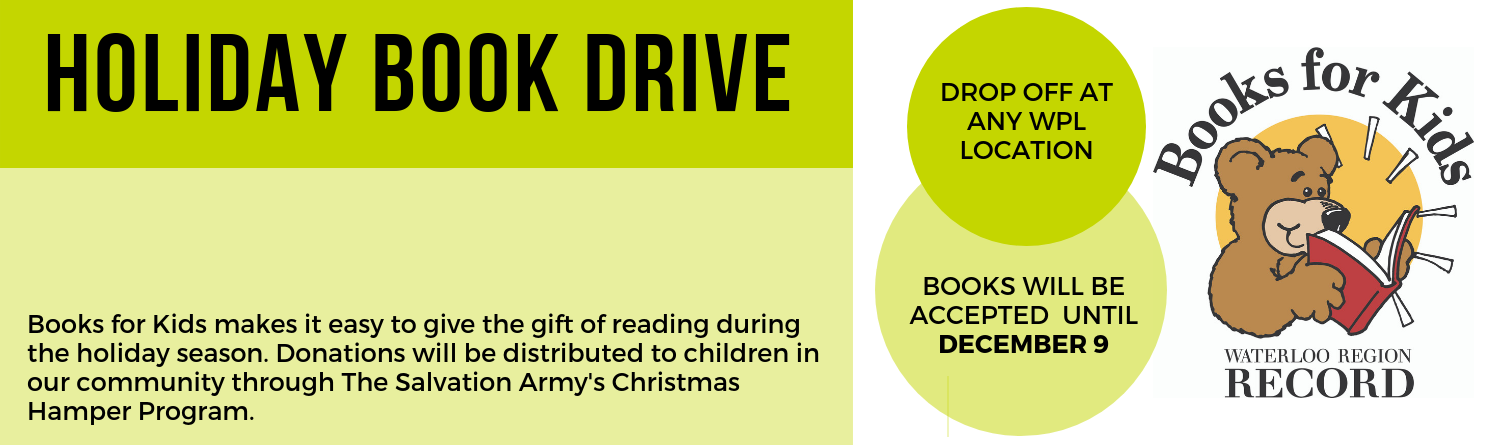 Books for Kids Book Drive Promo
