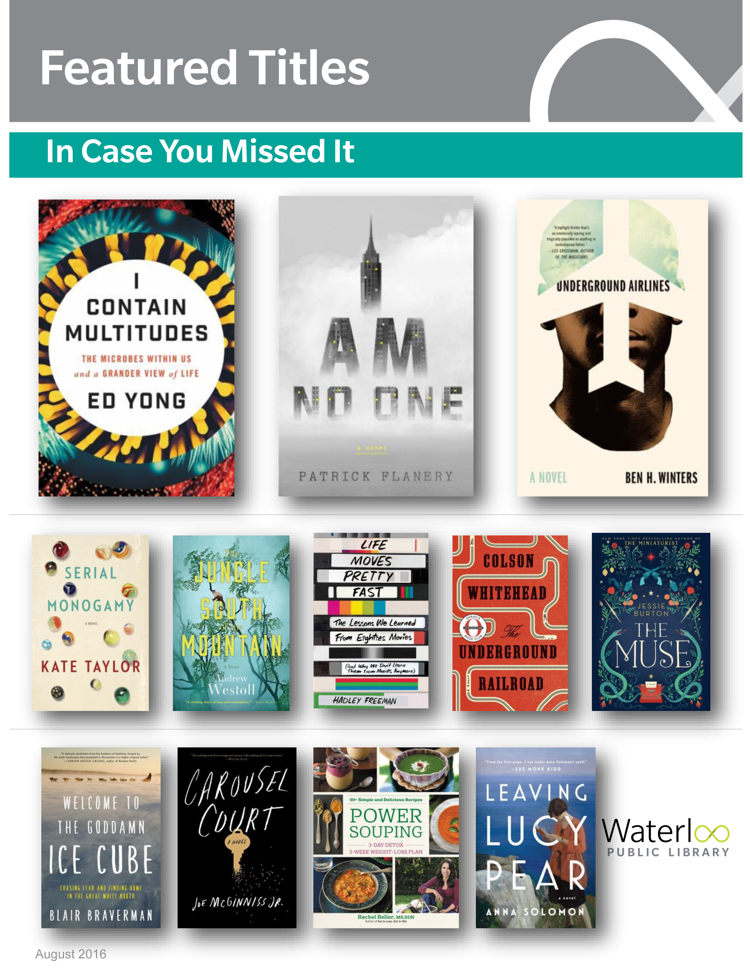 Staff Picks/Featured Titles: In Case You Missed It
