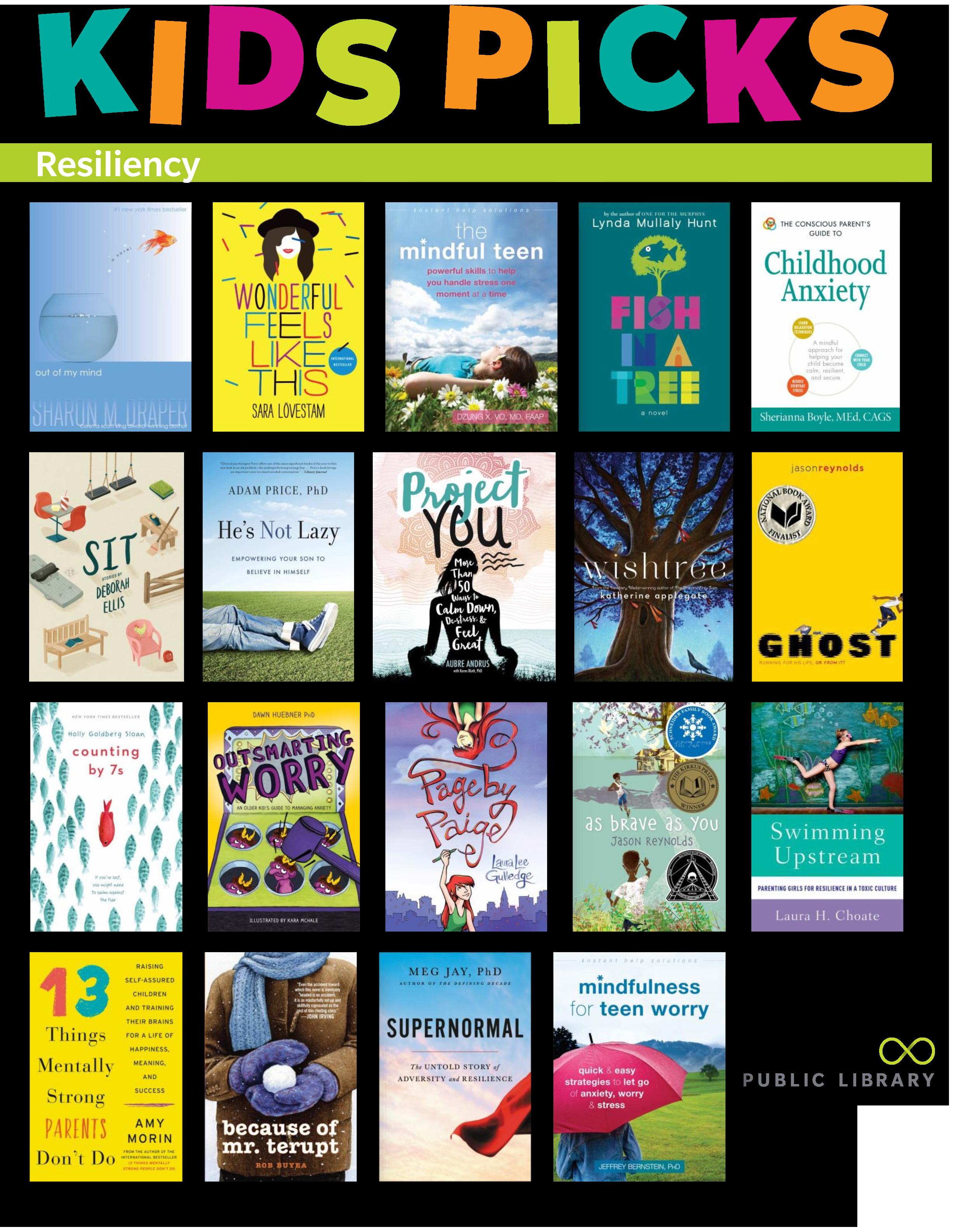 Kids Picks Reading List - Books on Resiliency