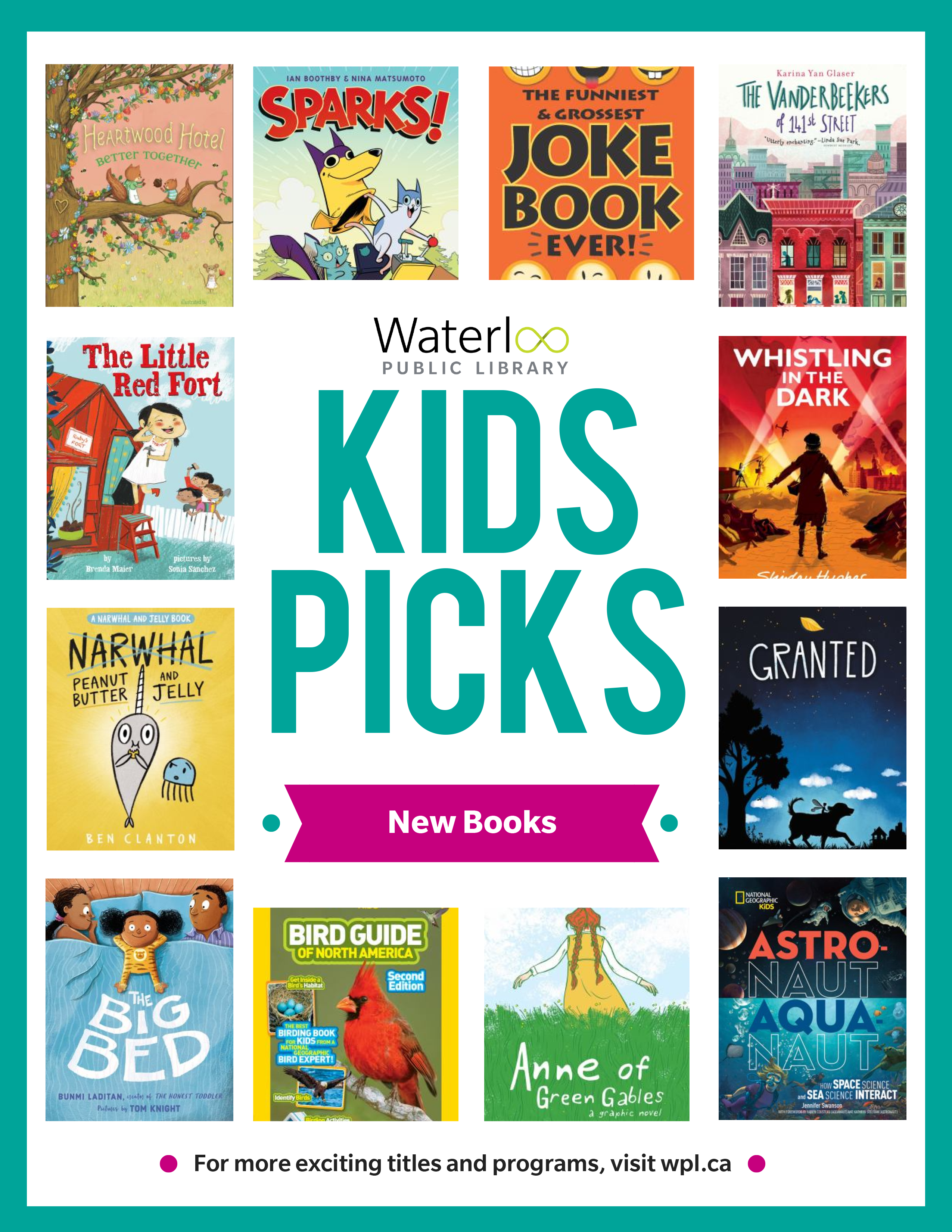 Covers of a selection of new kids books