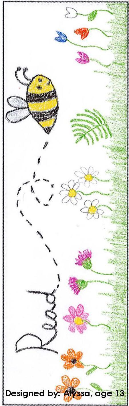 Bookmark designed by Alyssa age 13