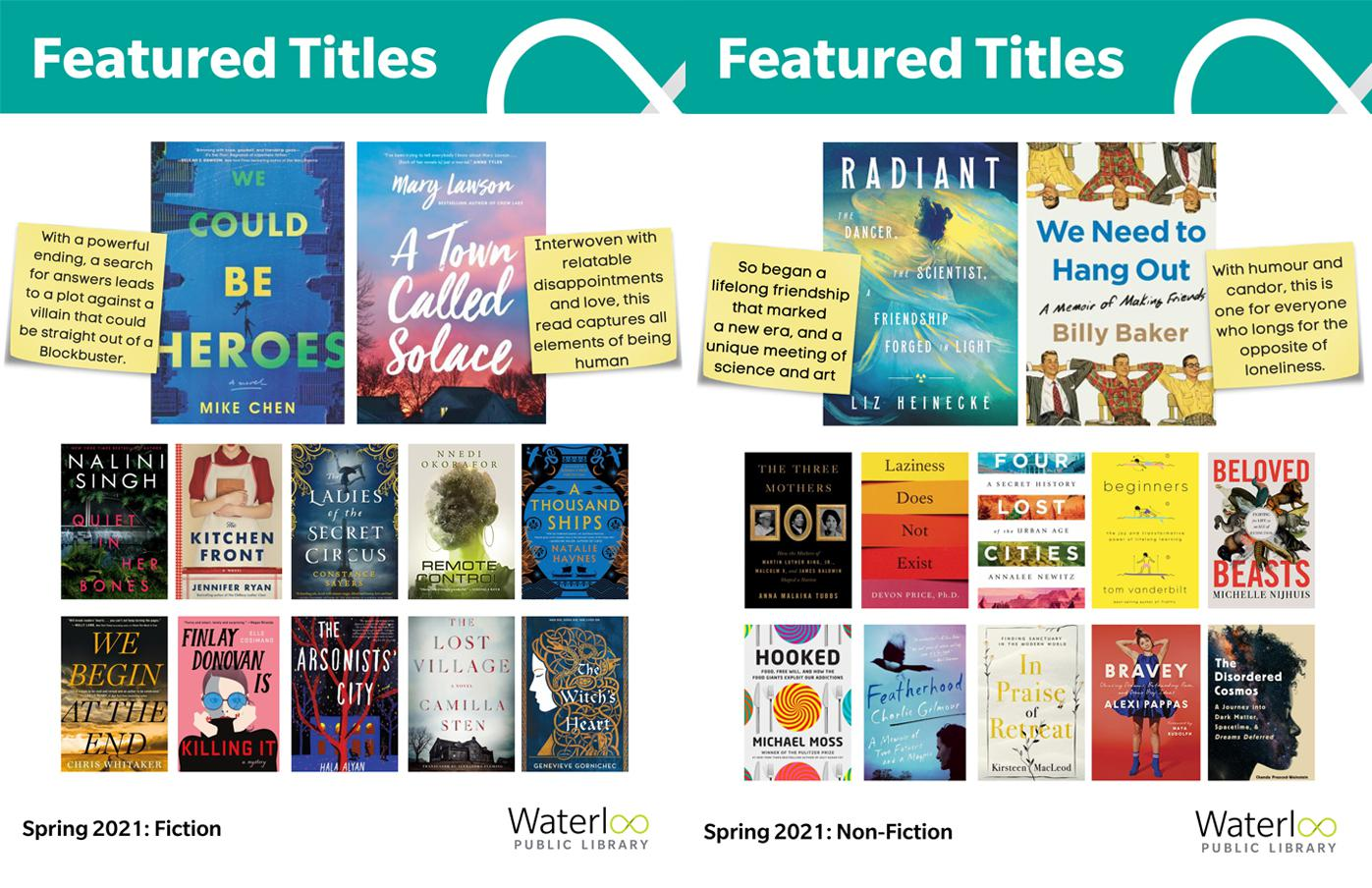 Covers of new books - spring 2021 - Featured Titles