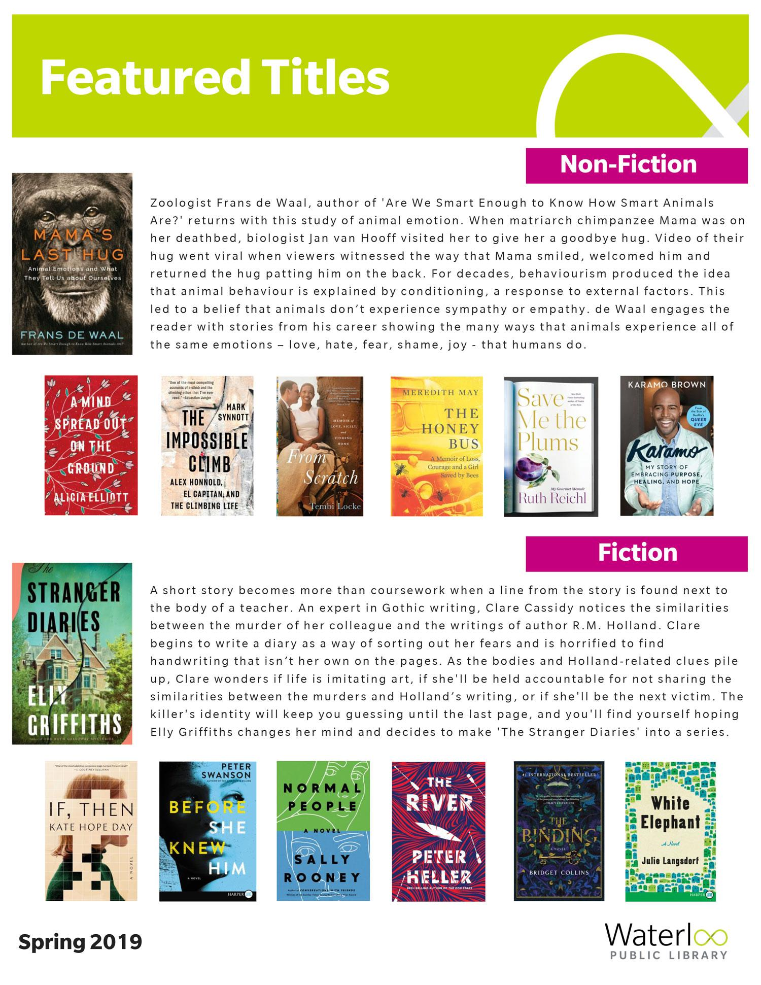Featured Titles List - Spring 2019