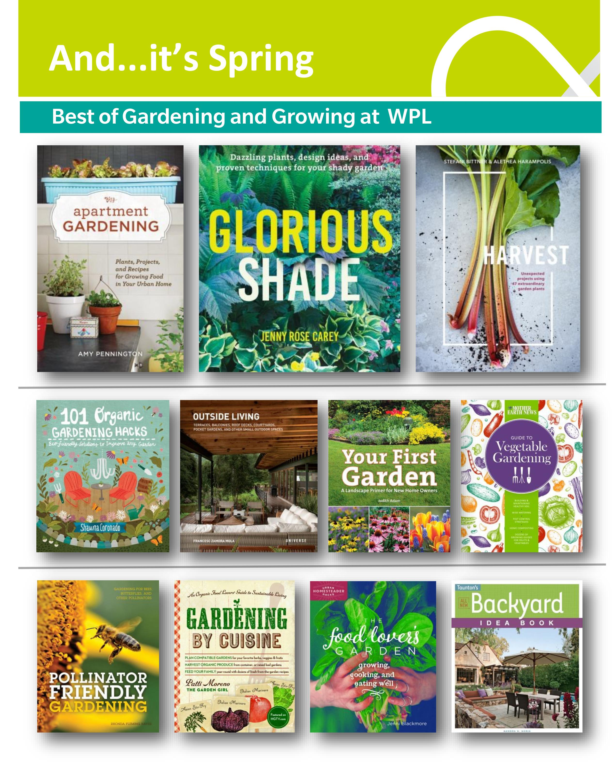 Covers of gardening books for 2017
