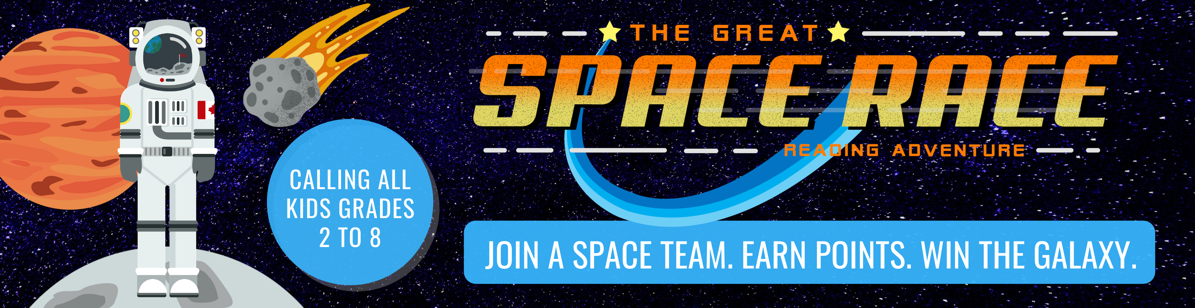 Great Space Race - Web Banner