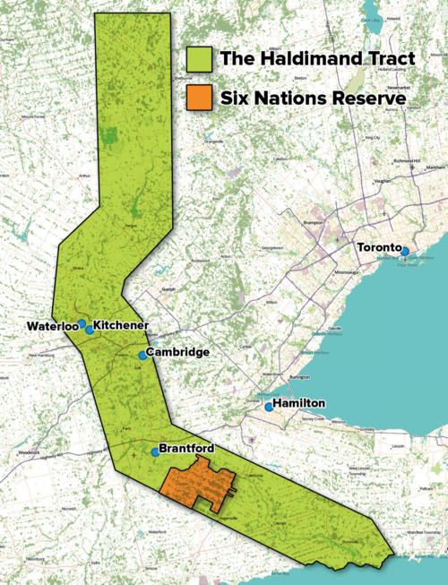 Map of the Haldimand Tract
