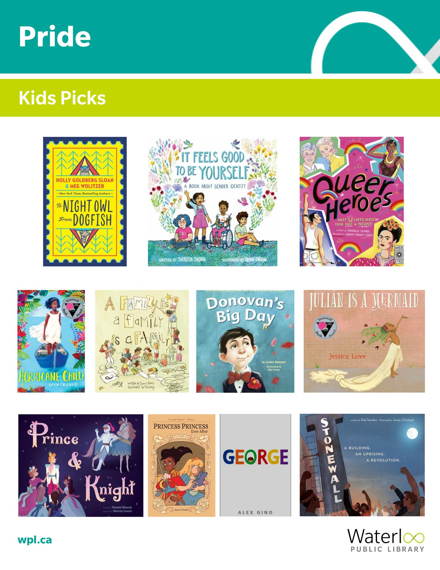 Pride 2019 - Books for Kids