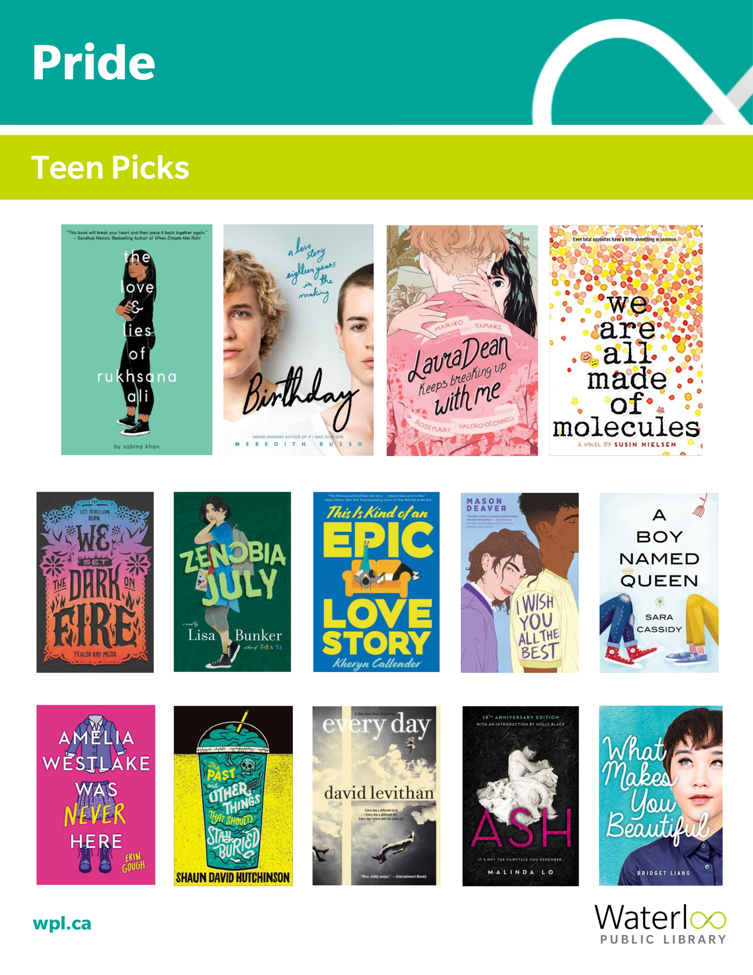 Pride 2019 - Books for Teens