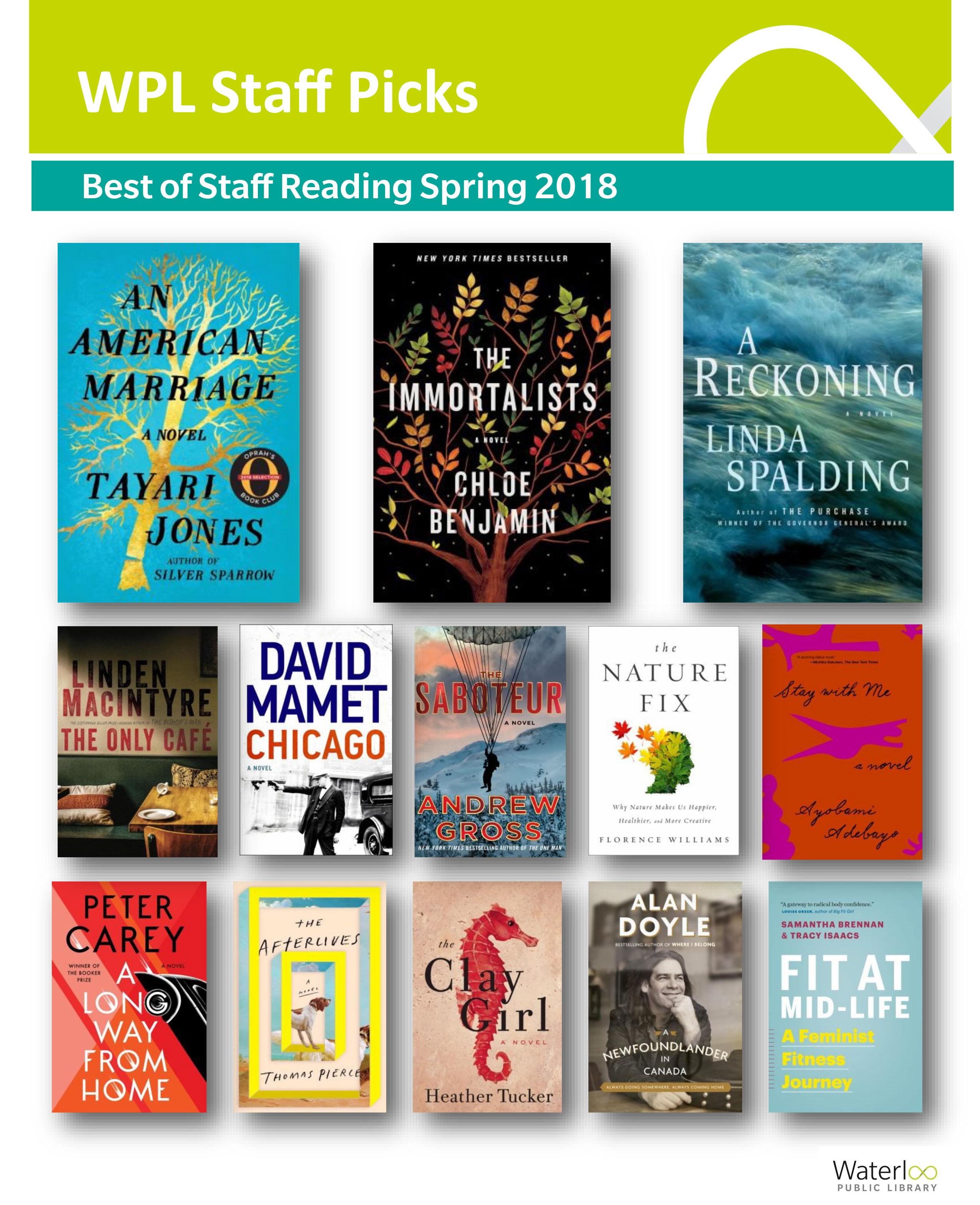 Covers of books recommended by staff
