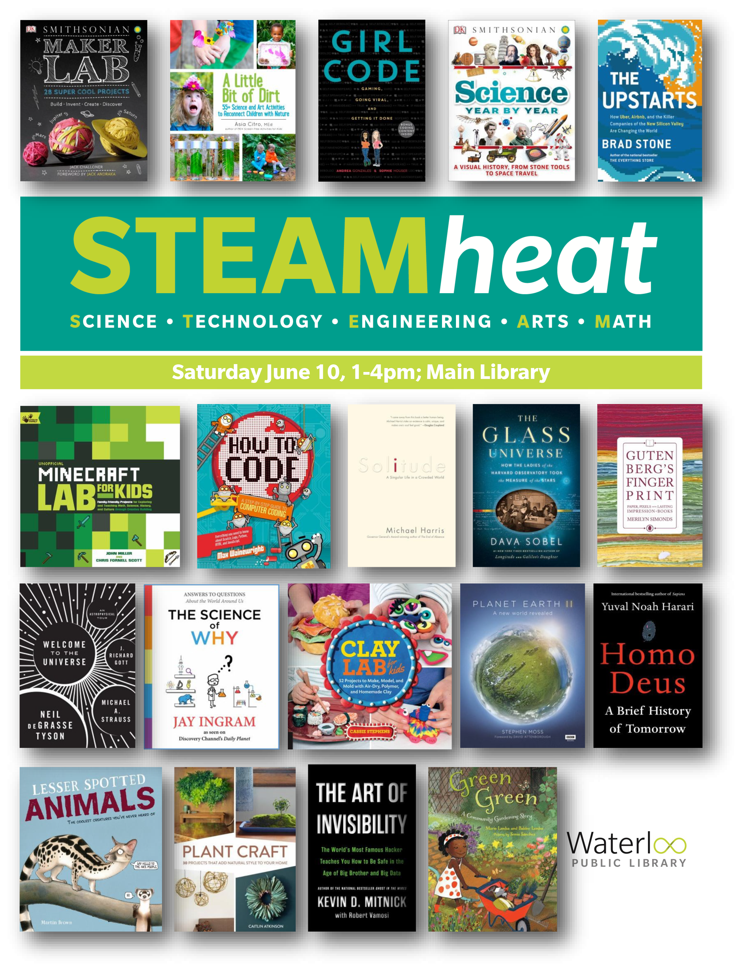 STEAM heat 2017 reading list book covers